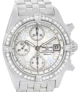 Breitling Breitling Windrider Cockpit Mother of Pearl Diamond Watch A13357