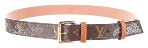 Louis Vuitton Brown, black, tan LV monogram Louis Vuitton Dentelle belt S Small