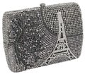 Other Crystal Evening Evening Flash Sale Black/White and Gray Clutch