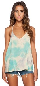 Blue Life Night Out Date Night Summer Blouse Casual Top Tie Dye