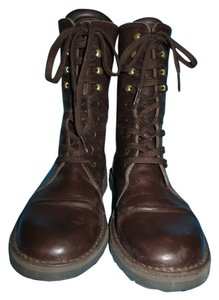 United Colors of Benetton Leather Lace Up Brown Boots