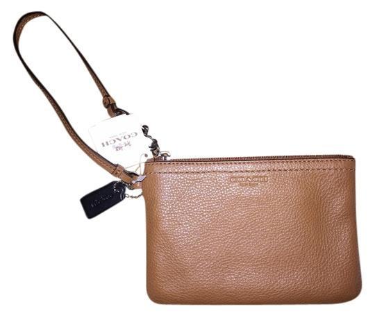 Coach Wristlet in Saddle