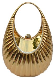 Evening Metal Gold Clutch