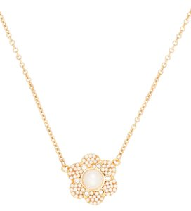 Kate Spade New Park Floral Mini Pendant Necklace - Gold