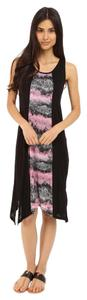 Black Carnation Maxi Dress by Kensie Shark Bite