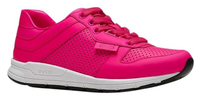 Item - Pink New Women's Neon Leather Trainers G39 369087 Sneakers Size US 9 Regular (M, B)