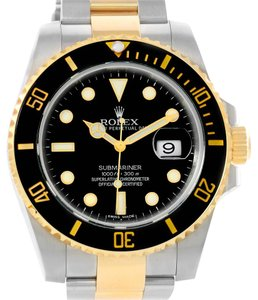 Rolex Rolex Submariner Steel 18K Yellow Gold Black Dial Watch 116613