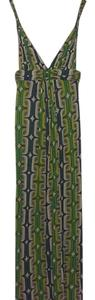 Green, teal, yellow, and white print Maxi Dress by T-Bags Los Angeles