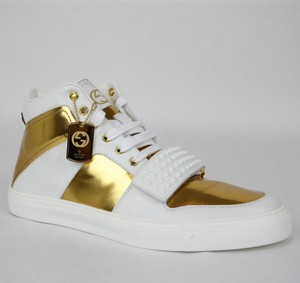 Gucci Men's Gold High-top Limited Edition 376195 9077 Size 10.5 G / Us 11