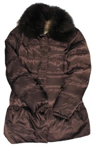 Prada Fur Raccoon Puffer Coat Brown Jacket