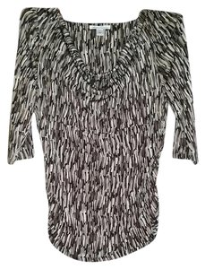 Kenneth Cole Pettite Cowlneck New York Top Brown, Black, White