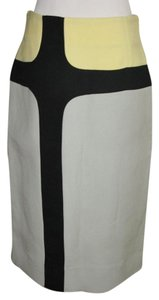 Marni Color Block Pencil Skirt Grey