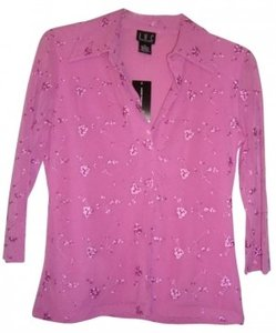 INC International Concepts Embroidered Top Pink