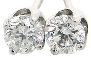 ABC Jewelry 3/4 ct Brilliant cut diamond earrings. All 14kt white gold earrings