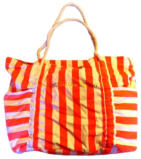 Item - Beach Pink/ White Canvas Weekend/Travel Bag