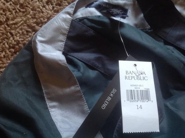 Banana Republic Tri Color Wear All Seasons Teal green with silver Halter Top