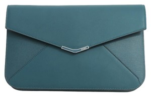 Fendi New 2jours Green Clutch
