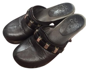 Calleen Cordero Pewter leather Mules
