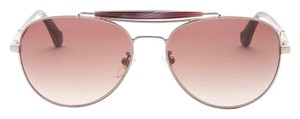 Carolina Herrera NEW Aviator Sunglasses, Rose Gold, Accessories Included, SHN005M5808Y9