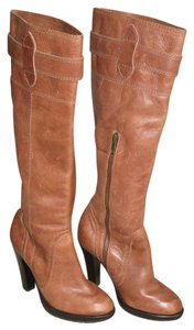 Twelfth St. by Cynthia Vincent Platform Tall Brown Boots