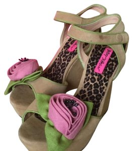 Betsey Johnson Tan Wedges