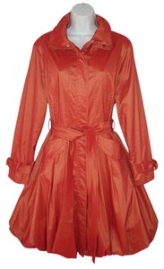D&Y Trench Bubble Orange Sheen Trench Coat