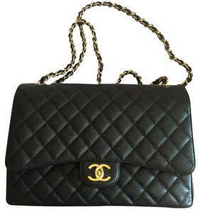 Chanel Maxi Single Flap Cf Caviar Cross Body Bag