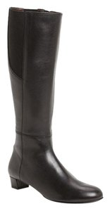 Attilio Giusti Leombruni Leather Knee High Tall Black Boots