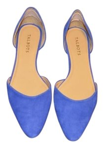 Talbots D'orsay Suede Real Blue Flats