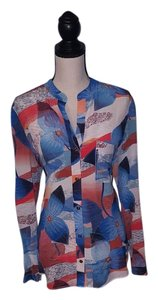 Diane von Furstenberg Silk Abstract Colorful Top