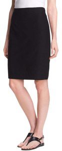 Eileen Fisher Viscose Ponte Knee Length Skirt BLACK
