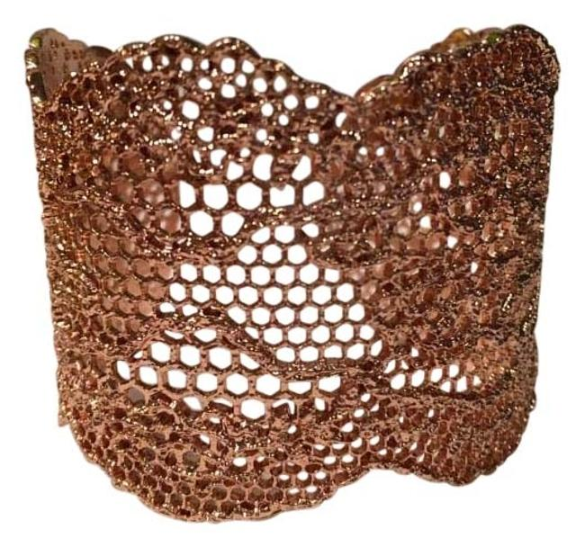 Item - Rose Gold 18 Karat Dipped Lace Cuff Bracelet