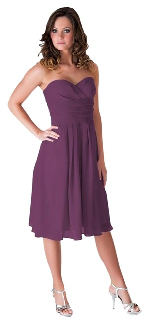 Preload https://item1.tradesy.com/images/purple-strapless-pleated-waist-slimming-chiffon-knee-length-cocktail-dress-size-22-plus-2x-183590-0-2.jpg?width=400&height=650