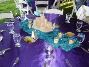 Joann's Fabric Teal Sequence Table Runner Tableware