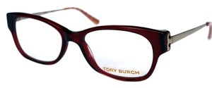 Tory Burch Tory Burch Women's Red and Gold Eyeglasses with Case