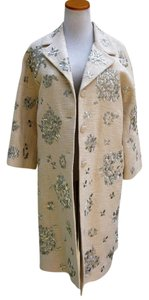 BCBGMAXAZRIA Overcoat Woven Embroidered Trench Coat
