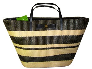 Kate Spade Tote Anabette BLACK AND CREAM Beach Bag