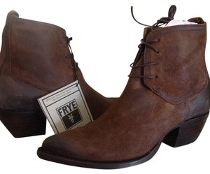 Frye Chukkas D Leather Dark Brown Distressed Boots