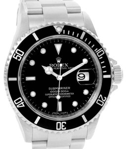 Rolex Rolex Submariner Mens Stainless Steel Black Dial Watch 16610 Year 2007