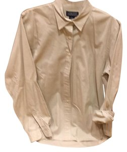 Lands' End Button Down Shirt Light taupe/beige