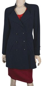 Chanel Jacket Navy Blue Blazer