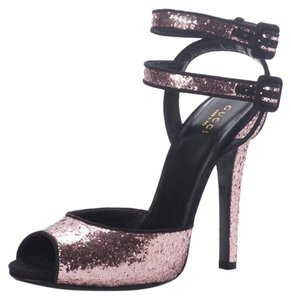 Gucci 353774 Glitter Sandals Pink Pumps