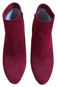 Via Spiga Suede Bootie Fall Denim Red Boots