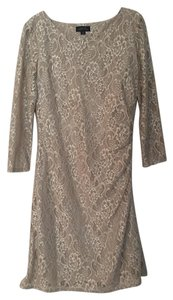 Tahari Lace Floral Longsleeve Cut-out Classic Dress