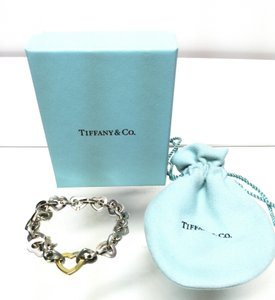 Tiffany & Co. Tiffany & Co Sterling Silver 18K Gold Heart Bracelet
