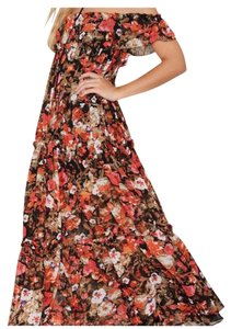 Black autumn floral Maxi Dress by Nasty Gal Sweaters Collection Maxi