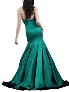 Rachel Allan Strapless Ruffle Mermaid Dress