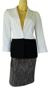 The Limited THE LIMITED Black White Skirt Suit XS/0 Tweed