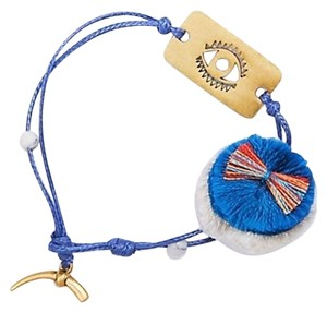 Tory Burch NEW Evil Eye Charm Bracelet, Dog Tag Thread, 11165805