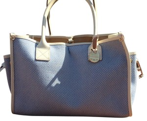 Dooney & Bourke Tote in Blue And Cream